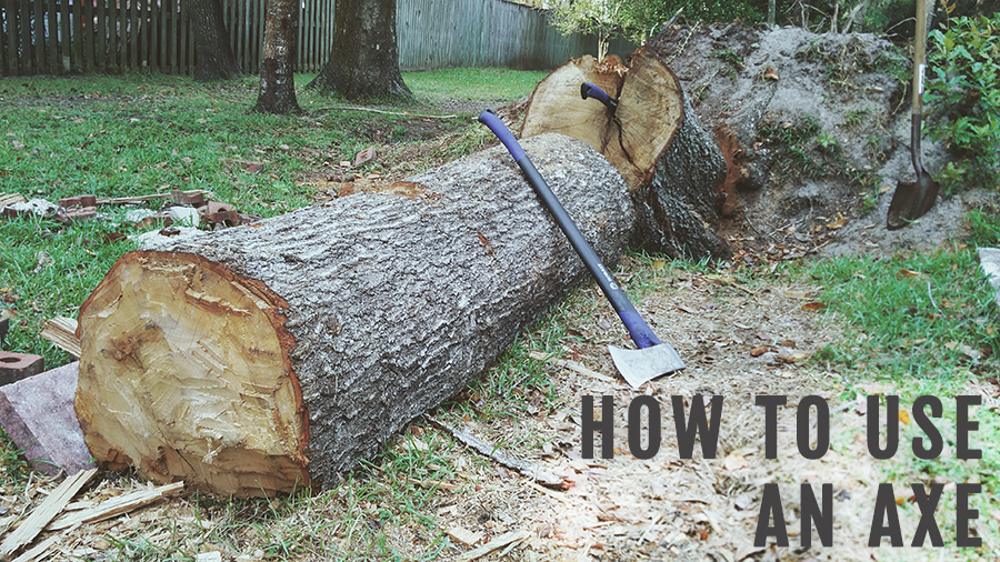 how to use an axe