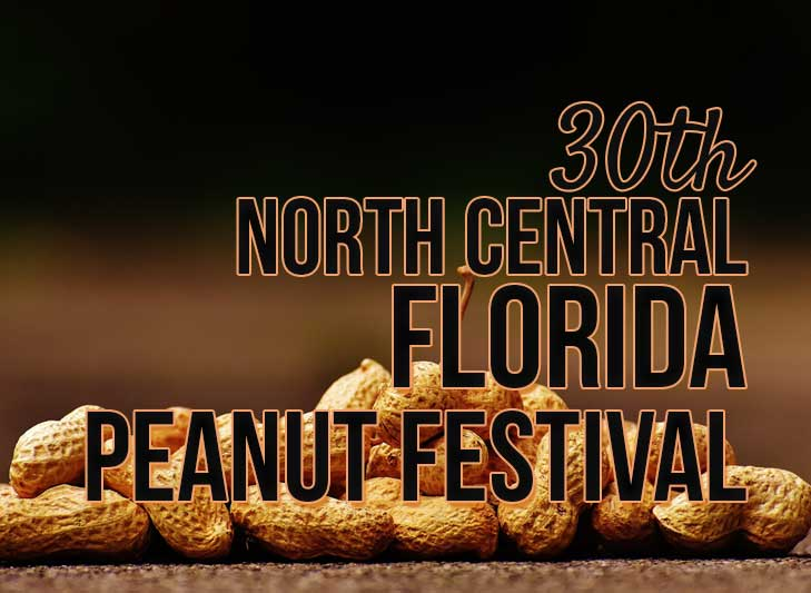 peanut images with the words North Central Florida Peanut Festival